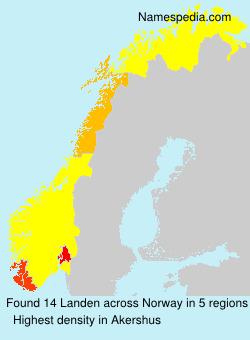 Familiennamen Landen - Norway