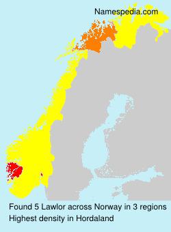 Surname Lawlor in Norway