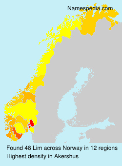 Surname Lim in Norway