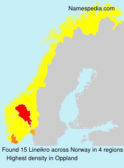 Familiennamen Lineikro - Norway