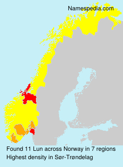 Surname Lun in Norway