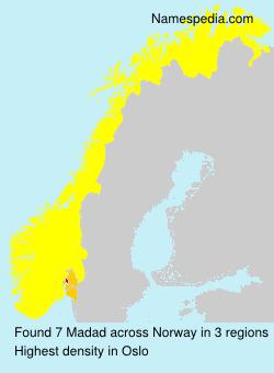 Familiennamen Madad - Norway