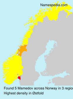 Familiennamen Mamedov - Norway