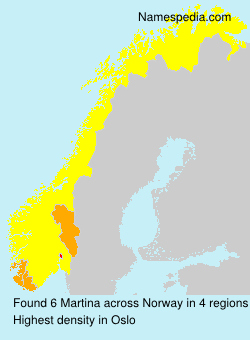 Surname Martina in Norway