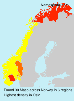 Surname Maso in Norway
