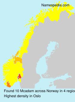 Familiennamen Mcadam - Norway