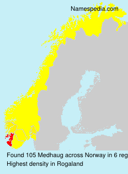 Surname Medhaug in Norway