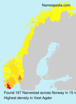 Surname Narvestad in Norway