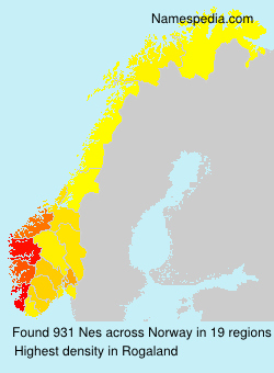 Surname Nes in Norway