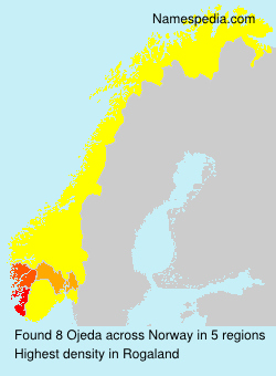 Surname Ojeda in Norway