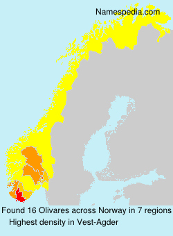 Surname Olivares in Norway
