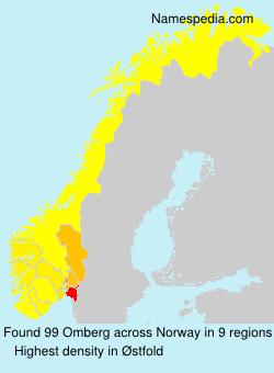 Surname Omberg in Norway