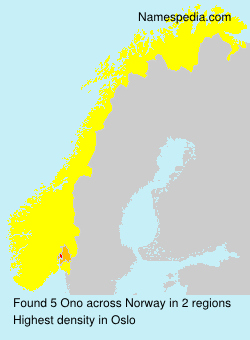 Surname Ono in Norway