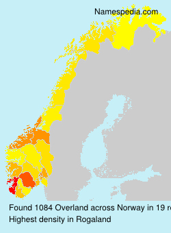 Surname Overland in Norway