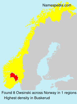 Surname Owsinski in Norway