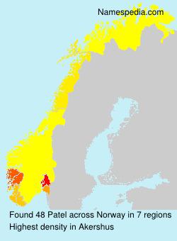 Familiennamen Patel - Norway