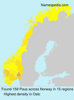 Surname Paus in Norway