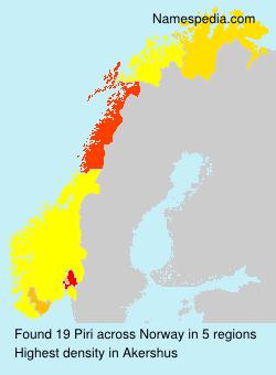Familiennamen Piri - Norway