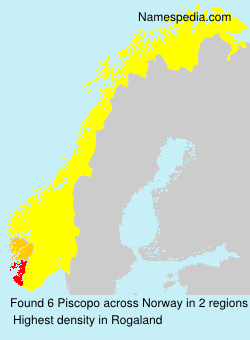 Surname Piscopo in Norway
