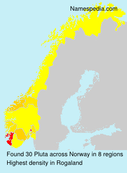 Surname Pluta in Norway
