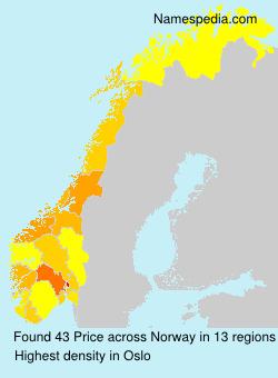 Familiennamen Price - Norway