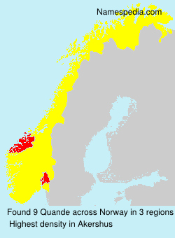 Surname Quande in Norway