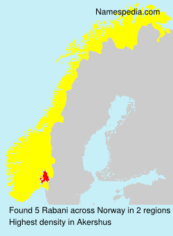 Surname Rabani in Norway