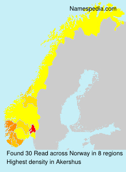 Surname Read in Norway