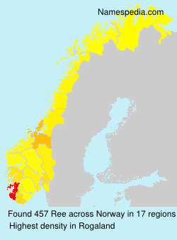 Surname Ree in Norway