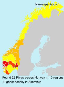 Familiennamen Rivas - Norway