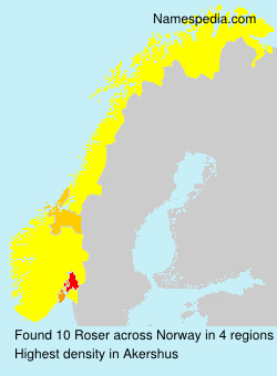 Surname Roser in Norway