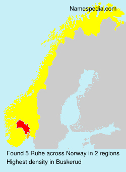 Surname Ruhe in Norway