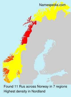 Surname Rus in Norway
