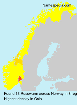 Familiennamen Russwurm - Norway