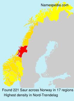 Surname Saur in Norway