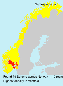 Surname Schone in Norway