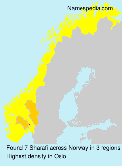 Surname Sharafi in Norway