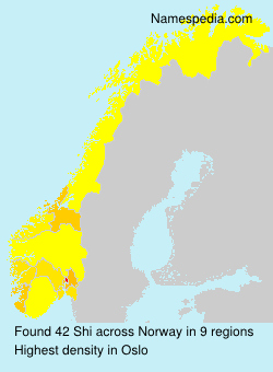 Surname Shi in Norway