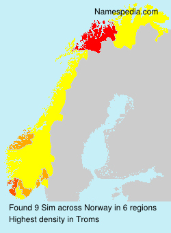Surname Sim in Norway