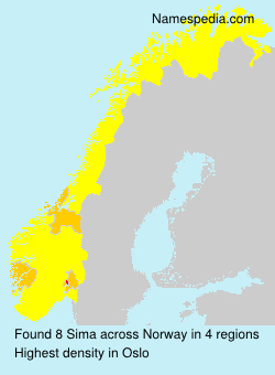 Surname Sima in Norway
