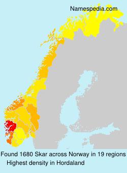 Surname Skar in Norway