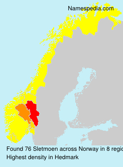 Surname Sletmoen in Norway