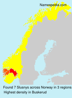 Surname Slusnys in Norway