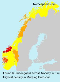 Familiennamen Smedegaard - Norway