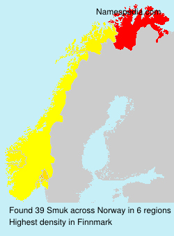 Surname Smuk in Norway