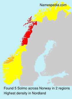 Surname Solmo in Norway