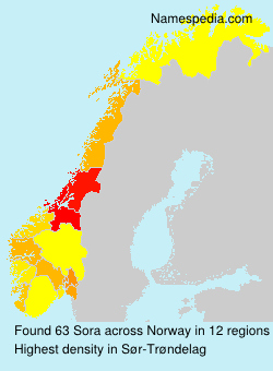 Surname Sora in Norway