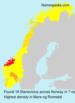 Surname Stanevicius in Norway