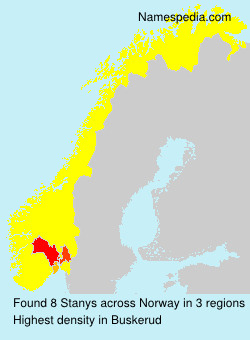 Surname Stanys in Norway