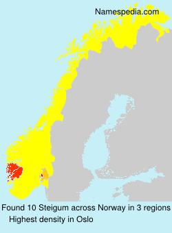 Familiennamen Steigum - Norway